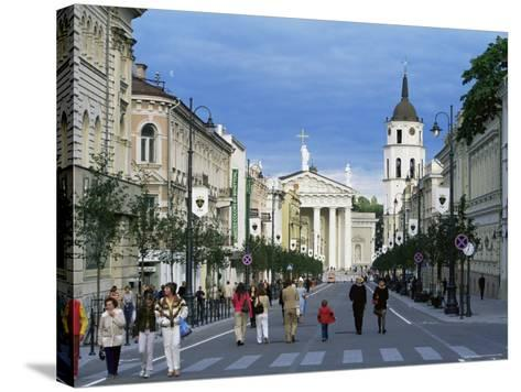 Gedimino Pospektas, the Main Street of the Modern City, Vilnius, Lithuania, Baltic States-Yadid Levy-Stretched Canvas Print