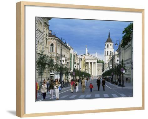Gedimino Pospektas, the Main Street of the Modern City, Vilnius, Lithuania, Baltic States-Yadid Levy-Framed Art Print