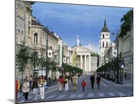 Gedimino Pospektas, the Main Street of the Modern City, Vilnius, Lithuania, Baltic States-Yadid Levy-Mounted Photographic Print