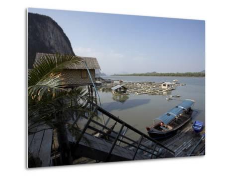 Ko Panyi, Muslim Fishing Village, Phang Nga, Thailand, Southeast Asia-Joern Simensen-Metal Print