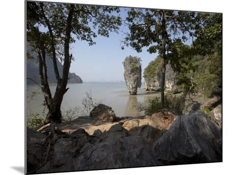 The Famous Rock from the Bond Movie, View from Ko Tapu, James Bond Island, Phang Nga, Thailand-Joern Simensen-Mounted Photographic Print