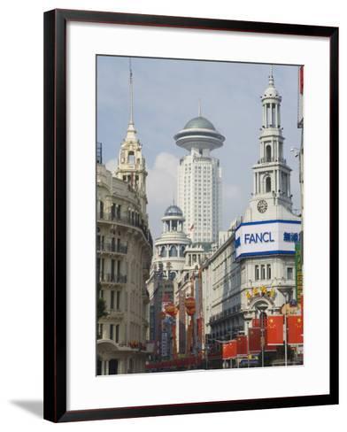 East Nanjing Pedestrian Street, Huangpu District, Shanghai, China-Jochen Schlenker-Framed Art Print