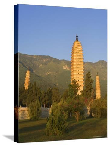 The Three Pagodas, Dali Old Town, Yunnan Province, China-Jochen Schlenker-Stretched Canvas Print