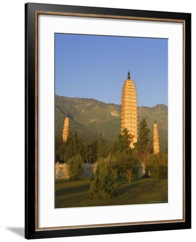 The Three Pagodas, Dali Old Town, Yunnan Province, China-Jochen Schlenker-Framed Art Print
