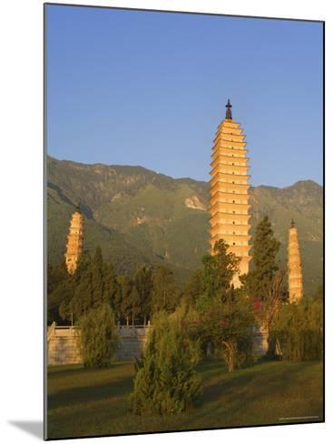 The Three Pagodas, Dali Old Town, Yunnan Province, China-Jochen Schlenker-Mounted Photographic Print