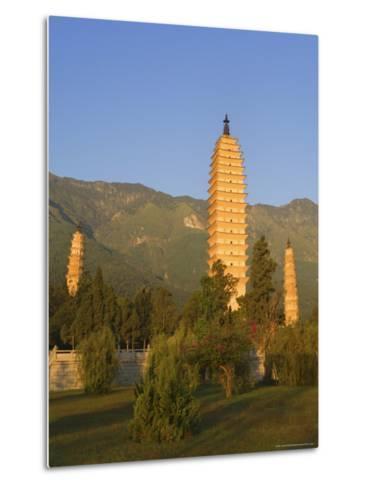 The Three Pagodas, Dali Old Town, Yunnan Province, China-Jochen Schlenker-Metal Print