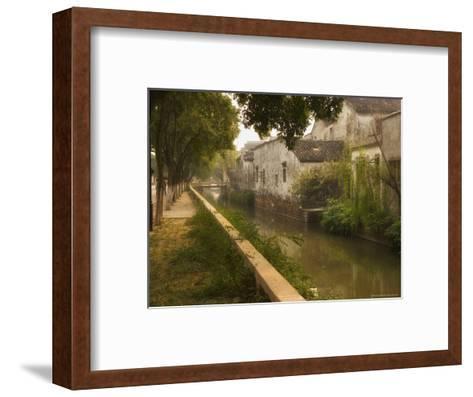 Canal and Houses, Souzhou (Suzhou), China-Jochen Schlenker-Framed Art Print