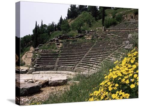 The Theatre, Delphi, Unesco World Heritage Site, Greece-Christina Gascoigne-Stretched Canvas Print