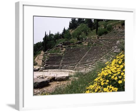 The Theatre, Delphi, Unesco World Heritage Site, Greece-Christina Gascoigne-Framed Art Print