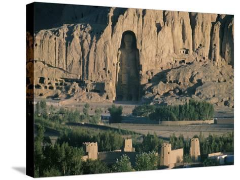Buddha at Bamiyan, Unesco World Heritage Site, Since Destroyed by the Taliban, Bamiyan, Afghanistan-Christina Gascoigne-Stretched Canvas Print