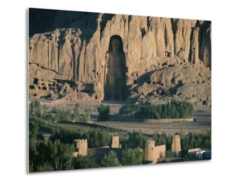 Buddha at Bamiyan, Unesco World Heritage Site, Since Destroyed by the Taliban, Bamiyan, Afghanistan-Christina Gascoigne-Metal Print