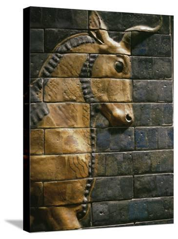 Babylonian Wall Tiles, Babylon, Iraq, Middle East-Christina Gascoigne-Stretched Canvas Print