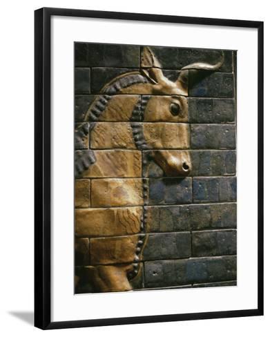 Babylonian Wall Tiles, Babylon, Iraq, Middle East-Christina Gascoigne-Framed Art Print
