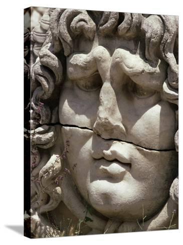 Close-Up of Carved Head, Didyma, Anatolia, Turkey, Eurasia-Christina Gascoigne-Stretched Canvas Print