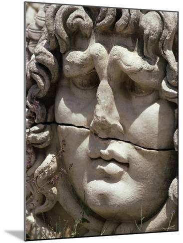 Close-Up of Carved Head, Didyma, Anatolia, Turkey, Eurasia-Christina Gascoigne-Mounted Photographic Print
