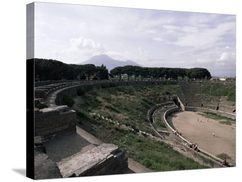 Amphitheatre, Pompeii, Unesco World Heritage Site, Campania, Italy-Christina Gascoigne-Stretched Canvas Print