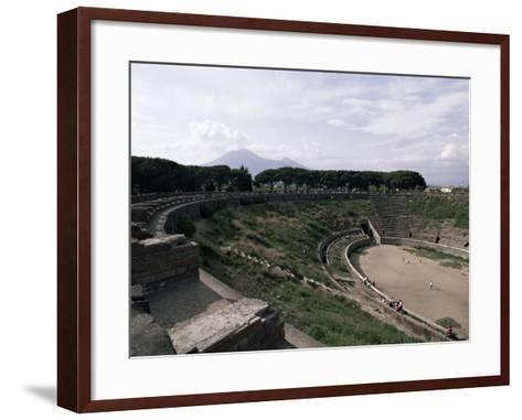 Amphitheatre, Pompeii, Unesco World Heritage Site, Campania, Italy-Christina Gascoigne-Framed Art Print