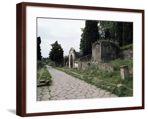 Via Dei Sepolchri, Pompeii, Unesco World Heritage Site, Campania, Italy-Christina Gascoigne-Framed Art Print