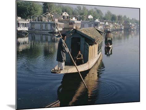 Houseboats on the Lake at Srinagar, Kashmir, Jammu and Kashmir State, India-Christina Gascoigne-Mounted Photographic Print