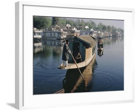 Houseboats on the Lake at Srinagar, Kashmir, Jammu and Kashmir State, India-Christina Gascoigne-Framed Art Print