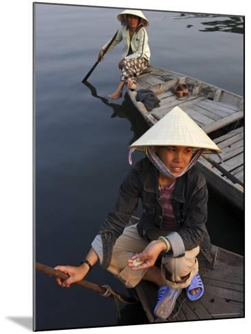 Women Ferrying Boats Await a Fare, Hoi An, Vietnam, Indochina, Southeast Asia-Andrew Mcconnell-Mounted Photographic Print