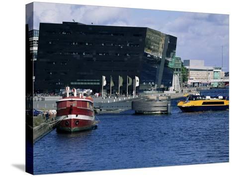The Black Diamond, New Annexe to the Royal Library, Copenhagen, Denmark, Scandinavia-Kim Hart-Stretched Canvas Print