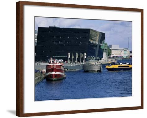 The Black Diamond, New Annexe to the Royal Library, Copenhagen, Denmark, Scandinavia-Kim Hart-Framed Art Print