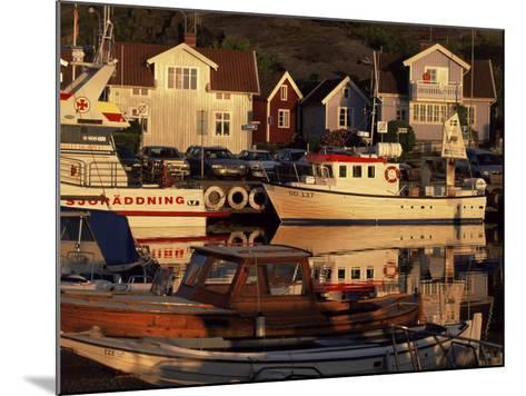 Sundown Over South Harbour, Village of Fjallbacka, Bohuslan, Sweden, Scandinavia-Kim Hart-Mounted Photographic Print