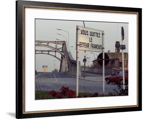Checkpoint into East Berlin from Bornholmerstrasse, Taken in 1986, East Germany, Germany-Kim Hart-Framed Art Print
