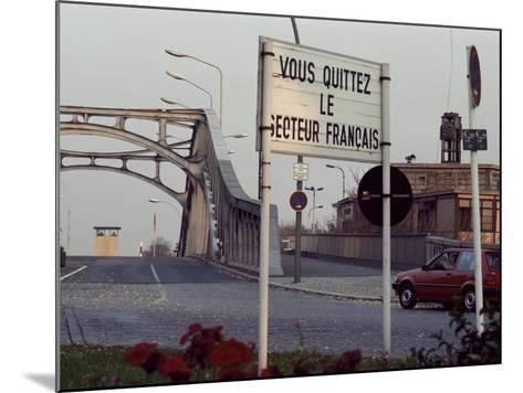 Checkpoint into East Berlin from Bornholmerstrasse, Taken in 1986, East Germany, Germany-Kim Hart-Mounted Photographic Print