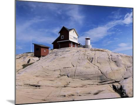 The Lighthouse on Stora Svangen, off the Island of Reso, Bohuslan, Sweden, Scandinavia-Kim Hart-Mounted Photographic Print