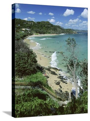 Watego and Beach, Surf Brake Between Byron Bay and Cape Byron, New South Wales (Nsw), Australia-Robert Francis-Stretched Canvas Print