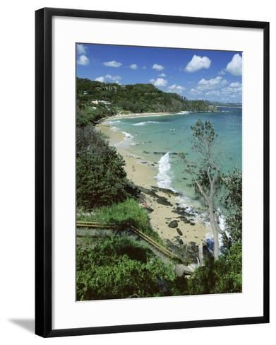 Watego and Beach, Surf Brake Between Byron Bay and Cape Byron, New South Wales (Nsw), Australia-Robert Francis-Framed Art Print