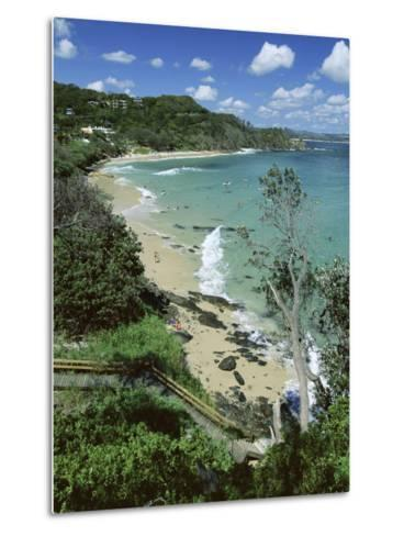 Watego and Beach, Surf Brake Between Byron Bay and Cape Byron, New South Wales (Nsw), Australia-Robert Francis-Metal Print