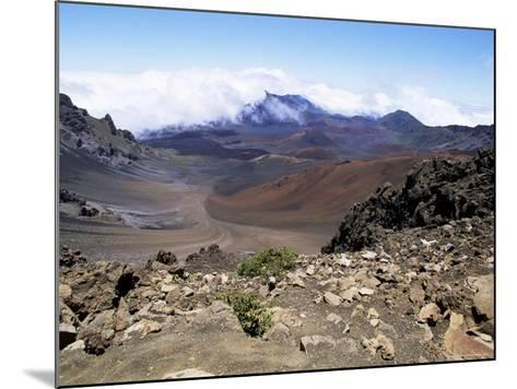 Cinder Cone and Iron-Rich Lava Weathered to Brown Oxide in the Crater of Haleakala-Robert Francis-Mounted Photographic Print