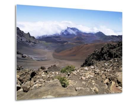 Cinder Cone and Iron-Rich Lava Weathered to Brown Oxide in the Crater of Haleakala-Robert Francis-Metal Print