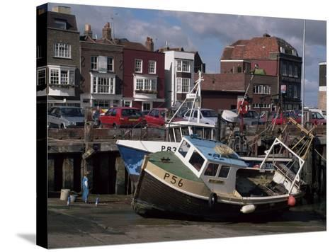Fishing Boats, Portsmouth Harbour, Portsmouth, Hampshire, England, United Kingdom-Robert Francis-Stretched Canvas Print