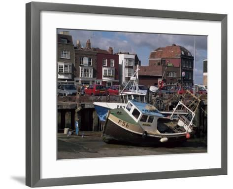 Fishing Boats, Portsmouth Harbour, Portsmouth, Hampshire, England, United Kingdom-Robert Francis-Framed Art Print