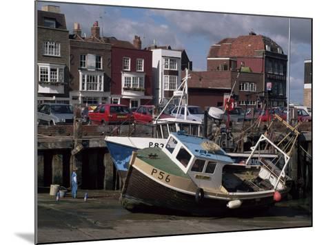 Fishing Boats, Portsmouth Harbour, Portsmouth, Hampshire, England, United Kingdom-Robert Francis-Mounted Photographic Print