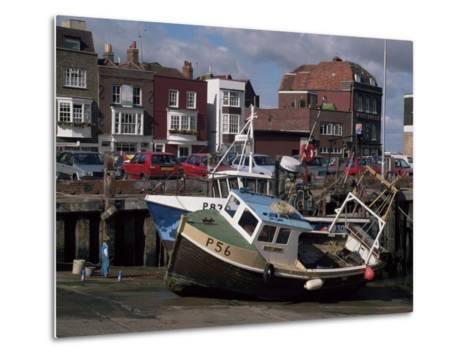 Fishing Boats, Portsmouth Harbour, Portsmouth, Hampshire, England, United Kingdom-Robert Francis-Metal Print