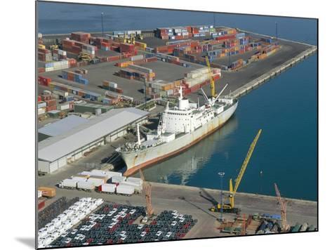 Container Terminal and Cargo Ship, Salerno, Campania, Italy, Mediterranean-Robert Francis-Mounted Photographic Print