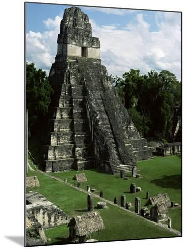 Temple of the Great Jaguar in the Grand Plaza, Mayan Ruins, Tikal, Peten-Robert Francis-Mounted Photographic Print