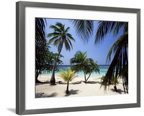 West Bay at the Western Tip of Roatan, Largest of the Bay Islands, Honduras, Caribbean-Robert Francis-Framed Art Print