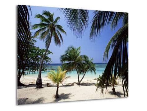 West Bay at the Western Tip of Roatan, Largest of the Bay Islands, Honduras, Caribbean-Robert Francis-Metal Print
