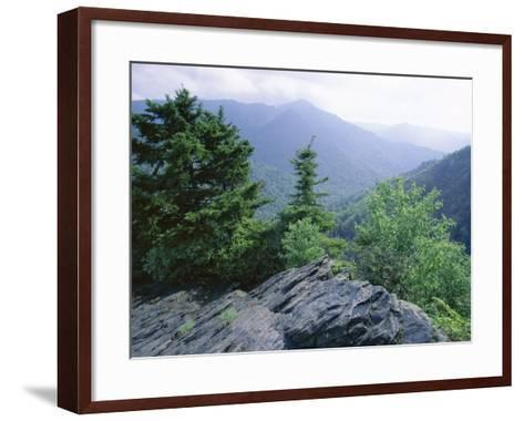 View from the Alum Cave Bluffs Trail in Great Smoky Mountains National Park, Tennessee, USA-Robert Francis-Framed Art Print