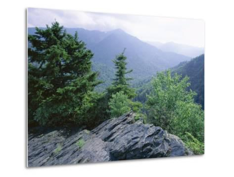 View from the Alum Cave Bluffs Trail in Great Smoky Mountains National Park, Tennessee, USA-Robert Francis-Metal Print