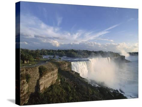 American Falls in Foreground, with Horseshoe Falls in the Background-Robert Francis-Stretched Canvas Print