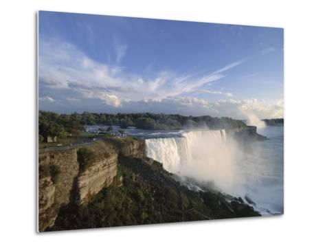 American Falls in Foreground, with Horseshoe Falls in the Background-Robert Francis-Metal Print