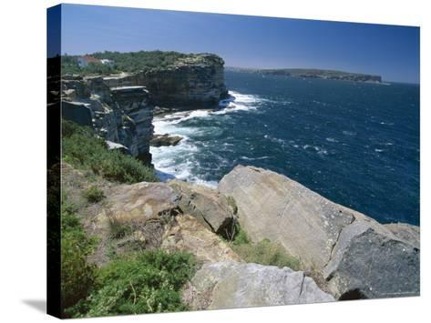 View from South Head Towards North Head at the Entrance to Sydney Harbour-Robert Francis-Stretched Canvas Print