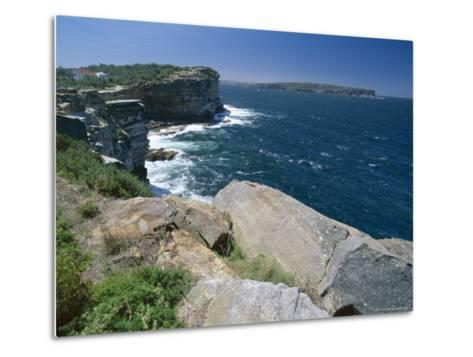 View from South Head Towards North Head at the Entrance to Sydney Harbour-Robert Francis-Metal Print